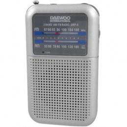 RADIO DAEWOO PORT.AM/FM-PRATA  -DRP8G