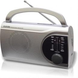 RADIO HAEGER PORT.AM/FM-SILV-SURROUND